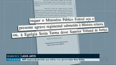 MPF recorre de decisão que soltou o ex-governador Beto Richa - Beto Richa foi solto na semana passada.