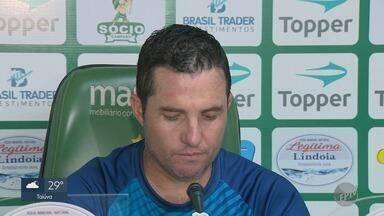 Técnico do Guarani não divulga quem irá substituir jogador machucado - Felipe Amorim sofreu uma contusão e técnico não divulga a escalação para o jogo contra o Botafogo-SP.