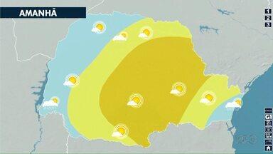 Domingão (10) de sol em Londrina - Segundo a previsão do tempo, o domingo será dia de tempo aberto