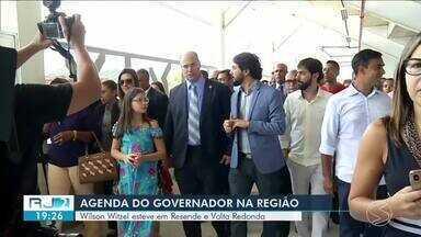 Governador Wilson Witzel participa de inauguração de arena esportiva em Volta Redonda - Com agenda cheia, Wilson esteve em Resende e Volta Redonda.