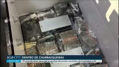 Homens são presos por transportar munição de fuzil em churrasqueiras elétricas - A carga era transportada de Cascavel para o Rio de Janeiro.