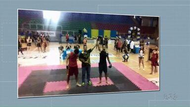 RPC Saúde: telespectadores mandam fotos de atividades físicas - Último aulão, com dança, aquecimento e caminhada, será neste domingo