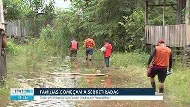 Defesa Civil de Porto Velho decreta estado de alerta por causa do nível do rio - Rio Madeira ultrapassou 16 metros.