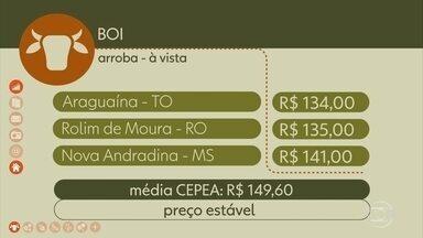 Veja os preços do café e boi gordo. - Veja os preços do café e boi gordo.