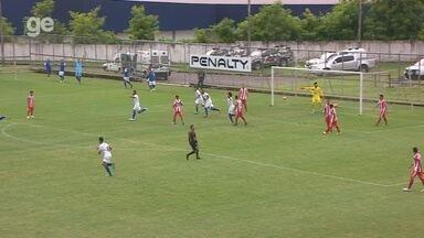 Paulinho recebe passe na pequena área e amplia para o Nacional - Naça vence o Sul América por 2 a 0, pela segunda rodada do Amazonense.