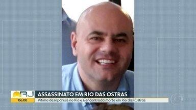 Polícia investiga morte de gerente de multinacional - A vítima sumiu no Recreio dos Bandeirantes, na Zona Oeste do Rio, e o corpo apareceu numa praia, em Rio das Ostras, na Região dos Lagos.