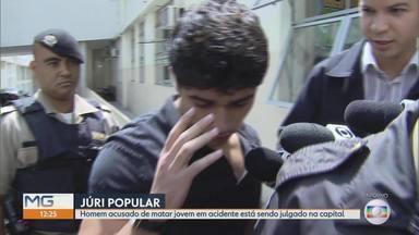 Homem acusado de matar jovem em acidente é julgado em Belo Horizonte - Júri é no 3º Tribunal do Fórum Lafayette e vai determinar se houve responsabilidade do condutor na morte de Fábio Pimentel Fraiha, que tinha 20 anos.