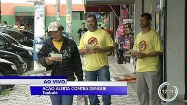 Taubaté alerta contra dengue em ação no mercado municipal - Ação também será estendida ao camelódromo.