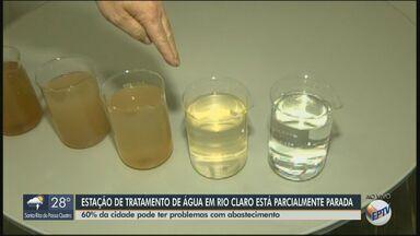 Estação de tratamento de água de Rio Claro está sem funcionamento - 60 bairros e 2 distritos podem sofrer com falta de abastecimento.