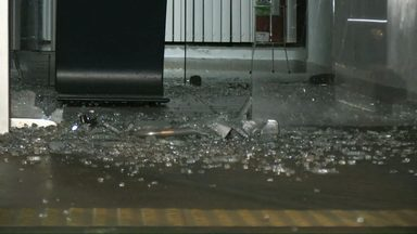 Criminosos atacam agência bancária em Piraí do Sul - A explosão foi nesta madrugada.