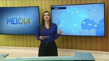 Quarta-feira de sol entre nuvens na região Noroeste - Também tem previsão de pancadas de chuva para hoje.