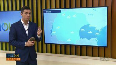 Confira como fica o tempo para a tarde desta quarta-feira (13) - A máxima em Ponta Grossa chega a 25°C.