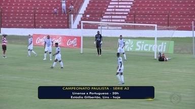 Linense recebe a ameaçada Portuguesa pela Série A2 - Linense e Portuguesa se enfrentam nesta quarta-feira (13), às 20h, pela sétima rodada do Campeonato Paulista da A2. O jogo acontece no estádio Gilbertão, em Lins, e o Elefante tenta a primeira vitória em casa.