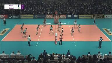 Minas derrota Barueri e se mantém na liderança isoladad da Superliga feminina de vôlei - Jogando em casa, equipe mineira começa perdendo, mas vence por três sets a um