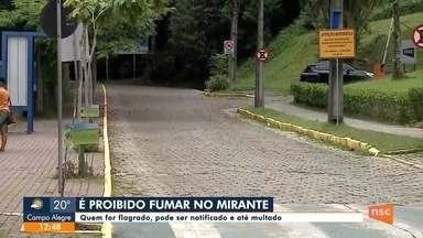 Fumar no Mirante de Joinville é proibido em lei - Fumar no Mirante de Joinville é proibido em lei