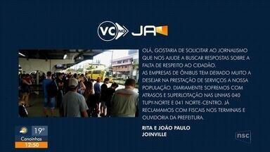"""""""VC no JA"""": usuários reclamam de demora no ônibus - """"VC no JA"""": usuários reclamam de demora no ônibus"""