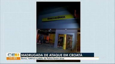 Bandidos atacam banco, lotérica e prédio da polícia em Croatá - Confira outras notícias no g1.globo/ce