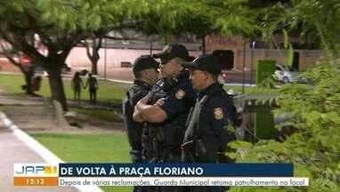 Guaritas da guarda civil nas praças de Macapá muitos estão depredados e fechados - Depois de várias reclamações, Guarda Municipal retoma patrulhamento no local.