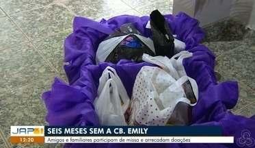 Completa 6 meses que a Cabo Emily foi brutalmente assassinada pelo companheiro, em Macapá - Amigos e familiares participam de missa e arrecadam doações.