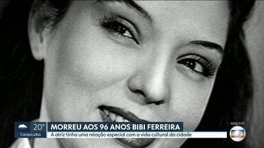 Morreu aos 96 anos a atriz Bibi Ferreira - A atriz era carioca mas viveu durante muitos anos em São Paulo e tinha uma relação especial com vida cultural da cidade