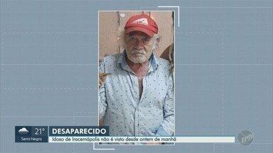 Idoso com Alzheimer está desaparecido em Iracemápolis - A família procura o idoso de 79 anos, que desapareceu na terça-feira (12), na cidade de Iracemápolis (SP).