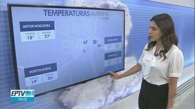 Dia nublado em Campinas, máxima de 25° C nesta quarta-feira (13) - Confira a previsão do tempo para Campinas e região.