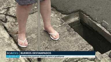 Moradores querem solução para o problema de bueiros em Ponta Grossa - A nossa equipe acompanhou algumas situações pela cidade.
