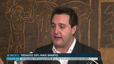 Governo deve abrir nova concessão para licitação de pedágios - Anúncio foi feito por Ratinho Júnior.
