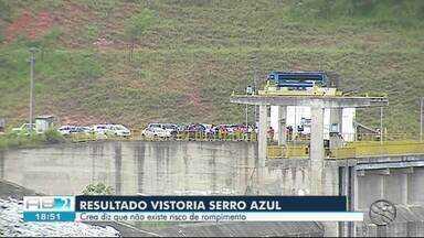 Barragem de Serro Azul apresenta fissuras, diz Crea - Vistoria foi realizada na barragem.