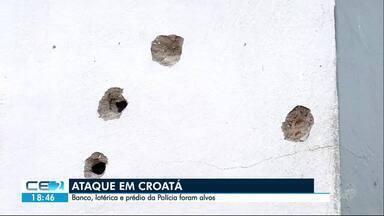 Bandidos atacam banco, lotérica e PM em Croatá - Tudo aconteceu durante 40 minutos e assustou moradores da cidade