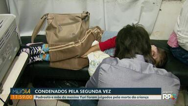 Mãe e padrasto são condenados por tortura e morte de menino de cinco anos - Esse foi o segundo julgamento do casal. Crime foi em 2014, em Foz do Iguaçu.