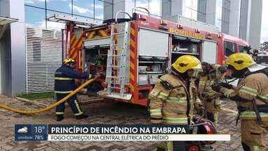 Princípio de incêndio assusta servidores da Embrapa - O fogo começou no 5º andar do prédio, que fica na Asa Norte. Segundo os bombeiros, o princípio de incêndio começou na central elétrica. Ninguém ficou ferido.