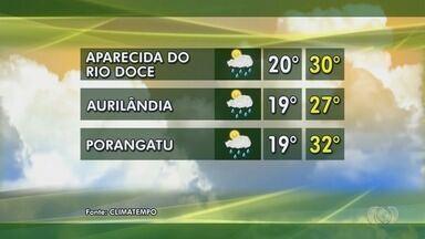 Veja a previsão do tempo para esta semana em Goiás - Confira como fica o tempo em Porangatu e Aparecida do Rio Doce.