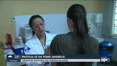 Sábado de vacinação contra febre amarela nas unidades de saúde em Curitiba - Unidades de saúde também ficarão abertas na semana que vem.