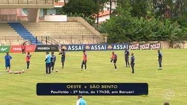 São Bento se prepara para jogo contra Oeste na segunda-feira - A rodada do São Bento acontece na segunda-feira (18) em jogo contra o Oeste, em Barueri.