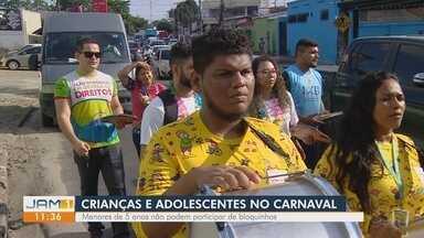 Caminhada conscientiza sobre segurança de crianças e adolescentes durante Carnaval - Ação teve apoio do projeto 'Aproximar Muda Tudo'