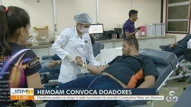 Hemoam convoca doadores de sangue em Manaus - Com estoque crítico, Hemoam convoca doadores.