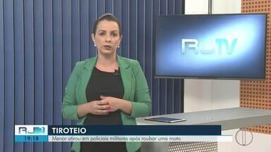 Menor atira em policiais militares após roubar moto em Petrópolis, no RJ - Assista a seguir.