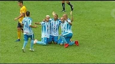 O gol da vitória do Crac sobre o Novo Horizonte por 1 a 0 - Panda converte pênalti e garante triunfo do Leão do Sul