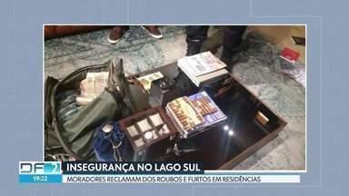 Moradores do Lago Sul reclamam da insegurança - De acordo com os moradores, os bandidos invadem as casas e estão cada vez mais abusados. O último assalto foi na noite de segunda, no Setor de Mansões Dom Bosco.