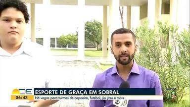 Modalidades esportivas são oferecidas de graça em Sobral - Tem vagas para futebol, capoeira e jiu-jitsu.