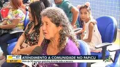 Projeto leva prestação de serviços a moradores do bairro Papicu - Comunidade tem acesso a mais de 50 serviços gratuitos.