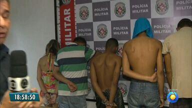 JPB2JP: Polícia desarticula quadrilha acusada de roubo de carros na zona sul da Capital - Presos foram levados para a Central de Polícia.