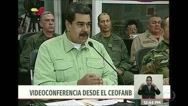 Maduro manda fechar fronteira da Venezuela com Brasil - 'Melhor prevenir que lamentar', disse presidente da Venezuela. Ele também estuda fechar fronteira com a Colômbia e impedir entrada de ajuda humanitária.