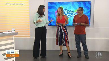 Bahia Folia: Camila Marinho e Marrom antecipam novidades do carnaval 2019 - Os apresentadores contam quais serão as novidades para a festa que acontece no fim de fevereiro.