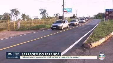 A partir de março fica proibido o tráfego de caminhões na Barragem do Paranoá - Em média, 26 mil veículos passam pela ponte diariamente. A velocidade no local foi reduzida para 40km/h.