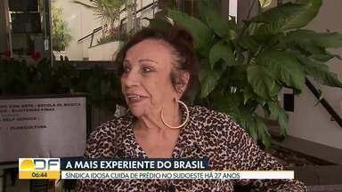 Síndica mais experiente do Brasil mora no DF - Dona Antônia Leal dos Reis tem 88 anos e, há 27, trabalha no mesmo condomínio do Sudoeste.