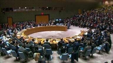 Venezuela pede à ONU que seja aprovada uma resolução rejeitando a ameaça e o uso da força - Já os Estados Unidos pedem outra resolução: que garanta a entrada de ajuda humanitária estrangeira na Venezuela. E querem também mais pressão sobre Maduro.