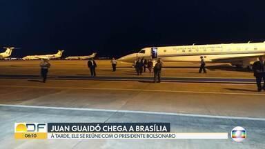 Presidente interino da Venezuela, Juan Guaidó, está em Brasília - Ele vai se reunir hoje com o presidente Jair Bolsonaro. Apesar de reconhecer Guaidó como presidente interino, o governo brasileiro não está tratando como uma visita de chefe de Estado.