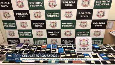 Polícia apreende 200 celulares roubados em Ceilândia e Taguatinga - Os aparelhos estavam em cinco bancas na Feira dos Importados de Taguatinga e em duas casas em Ceilândia e Taguatinga. Quatro pessoas foram presas.